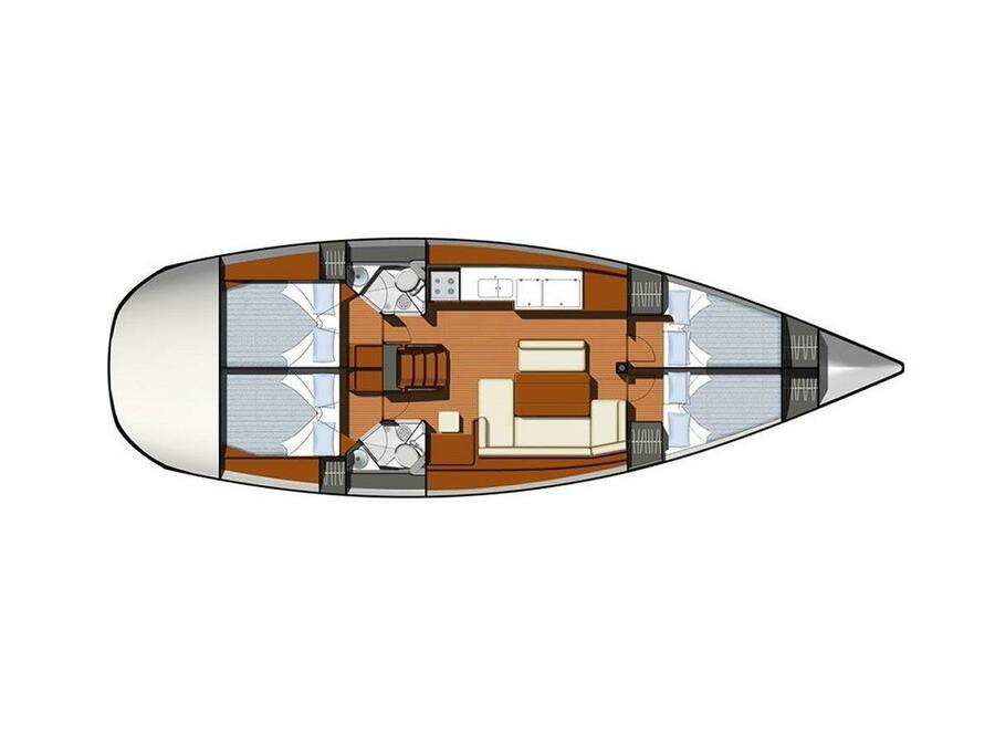 Sun Odyssey 44 i (Anastasia) Plan image - 4