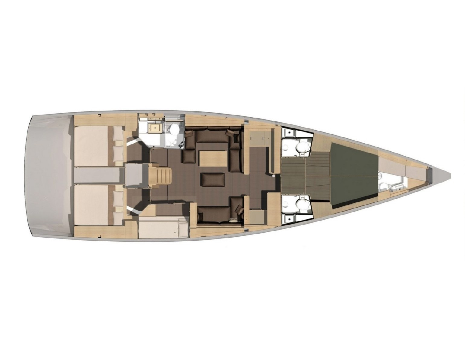 Dufour 56 Exclusive (Silente) Plan image - 1