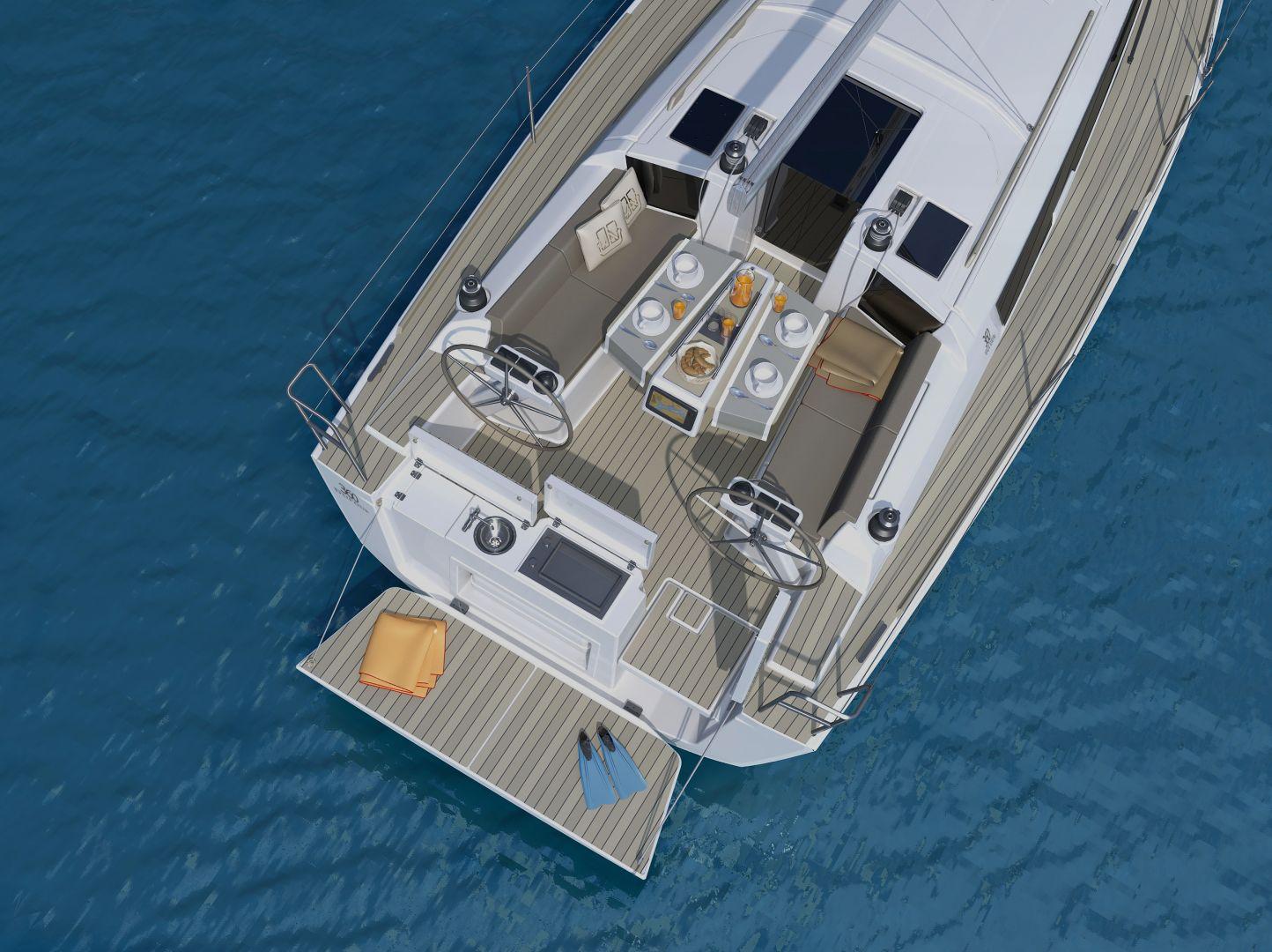 Dufour 360 GL (Nautilus) At anchor - 10