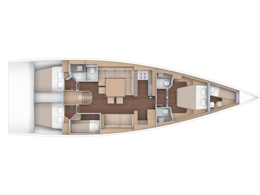 Dufour 56 Exclusive (Friska) Plan image - 21