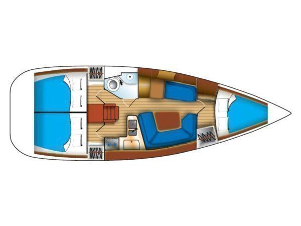 Sun Odyssey 35 (Bella) Plan image - 2