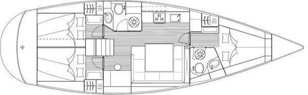 Bavaria 43 C (Rhea) Plan image - 10