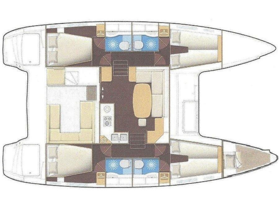 Lagoon 400 (Winnie) Plan image - 5