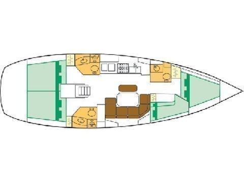 Oceanis Clipper 423 (Brava) Plan image - 6