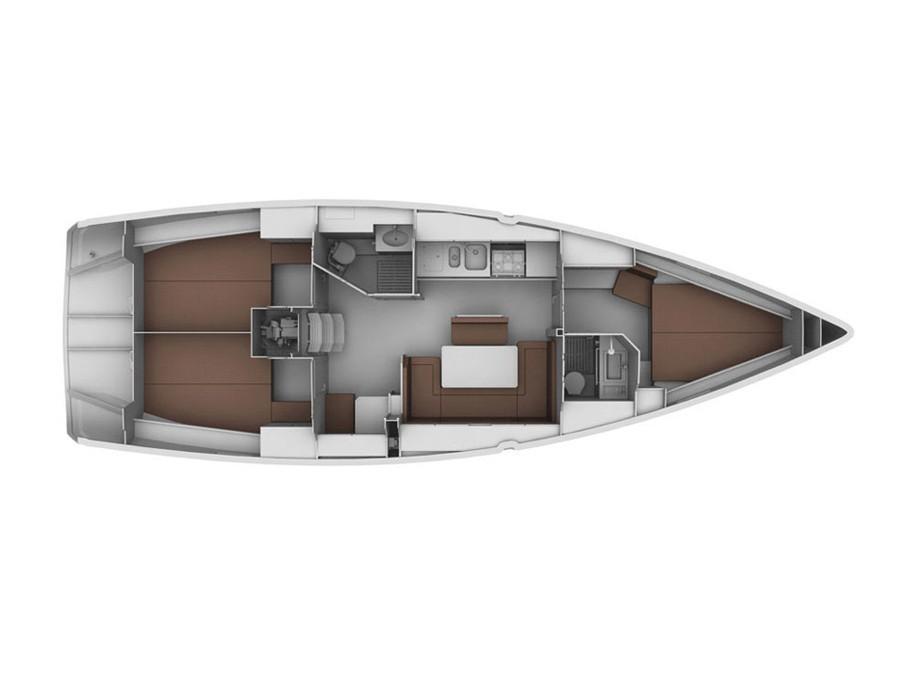 Bavaria 40 Cruiser ( Orca (GPS in cockpit, bowthruster, solar panels)) Plan image - 1