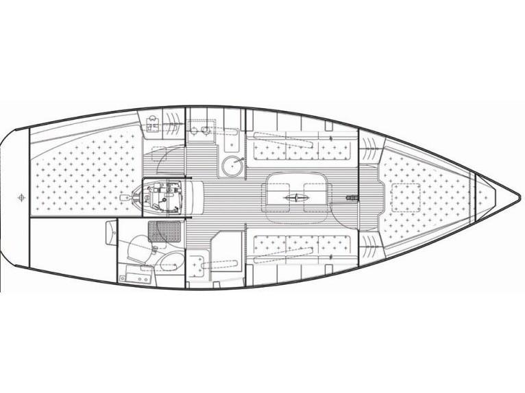 Bavaria 31 Cruiser (Jelsa (GPS in cockpit, solar panels)) Plan image - 1