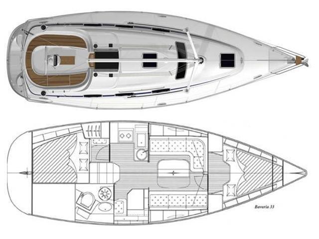 Bavaria 33 Cruiser (Lebić (GPS in cockpit, solar panels)) Plan image - 1