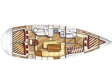 Dufour Gib Sea 43 (DIVA I) Plan image - 3