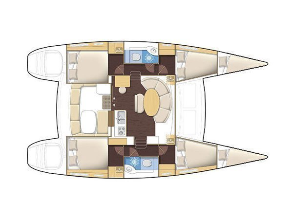 Lagoon 380 S2 (LOVE SONG) Plan image - 4