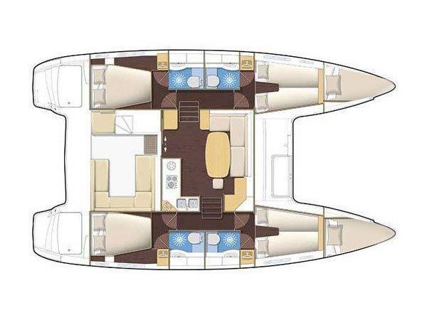 Lagoon 400 (LA BOHEME) Plan image - 5
