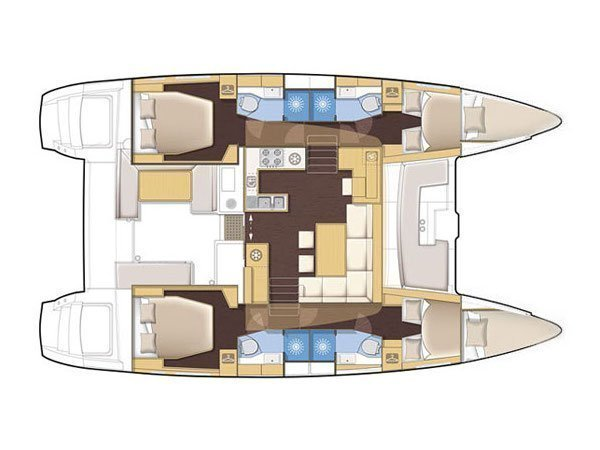 Lagoon 450 (SIMPLY THE BEST) Plan image - 1