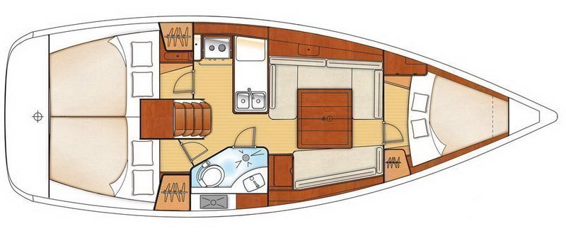 Oceanis 34 (STAR ELISABETH) Plan image - 12
