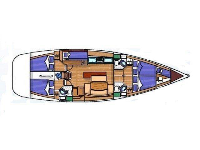 Cyclades 50.5 (Principessa) Plan image - 6