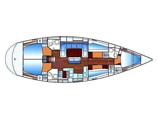 Bavaria 50 Cruiser (Blue Island) Plan image - 3