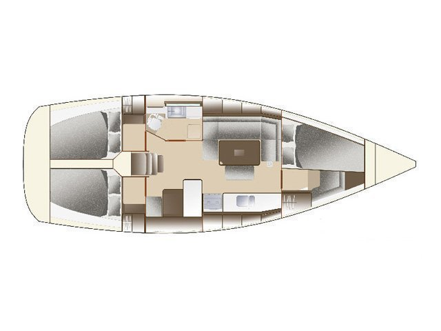Dufour 375 GL (One&Only) Plan image - 5