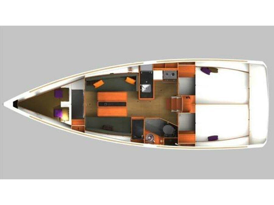 Sun Odyssey 349 (Nana) Plan image - 2