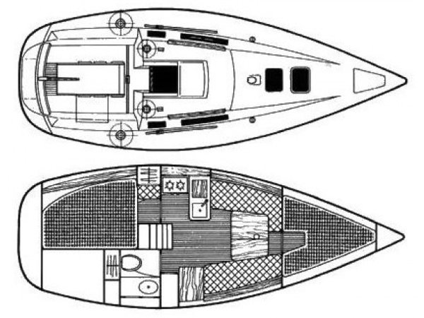 Beneteau 285 (Seagull) Plan image - 2
