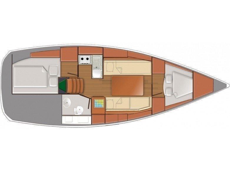Sun Odyssey 319 (Moké) Plan image - 2