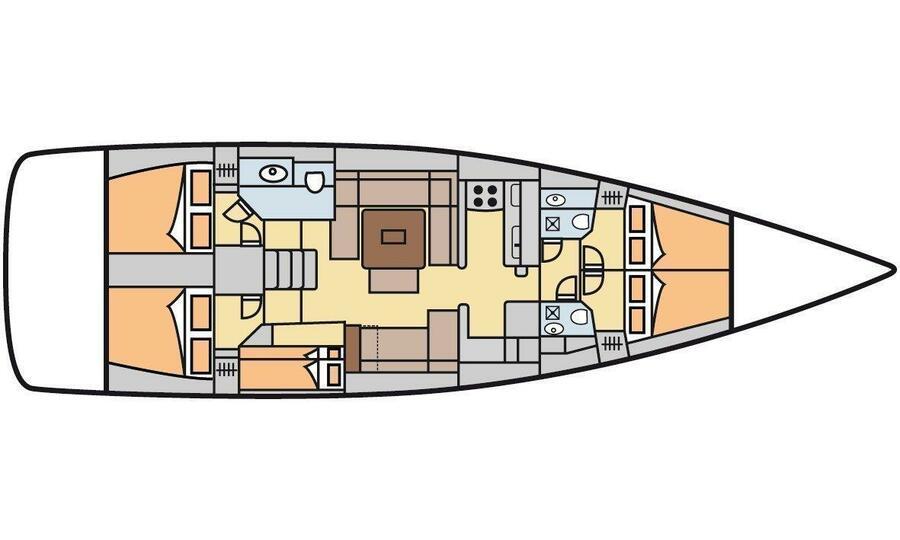 Dufour 500 GL (Maestro) Plan image - 12