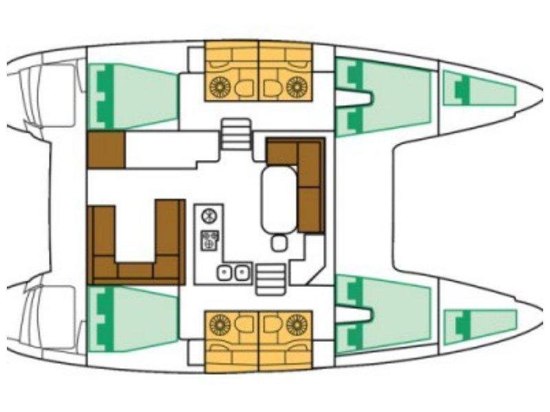 Lagoon 400 (SIMBA) Plan image - 10