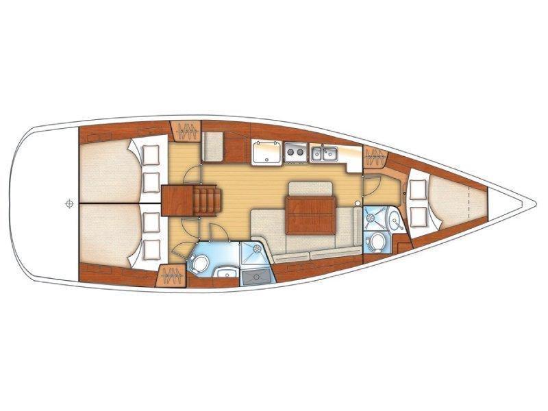 Oceanis 40 (Diva) Plan image - 5