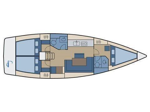 Bavaria 40 Cruiser. (Mojito) Plan image - 16