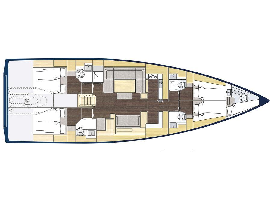 Bavaria C57 Style (BavC57-21) Plan image - 3