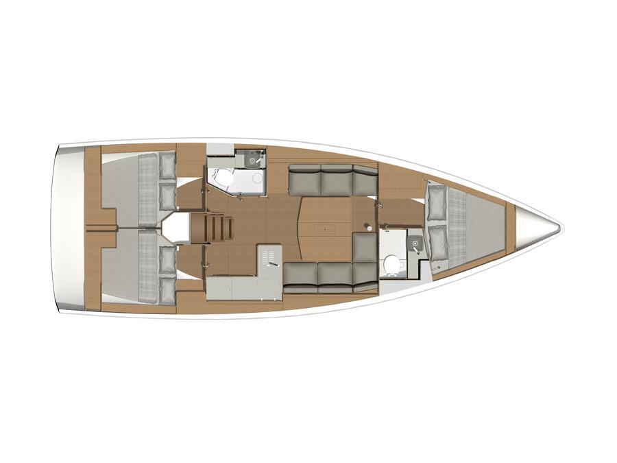 Dufour 390 Grand Large (Morgana ) Plan image - 1
