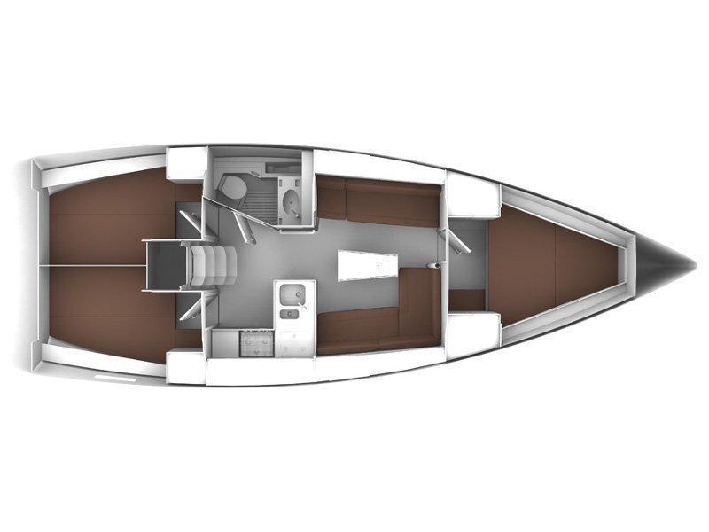 BAVARIA C 37 BT (ANDREA) Plan image - 4