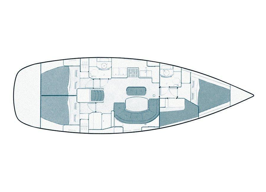 Oceanis Clipper 411 (Ana Marija (Sails 2020)) Plan image - 19