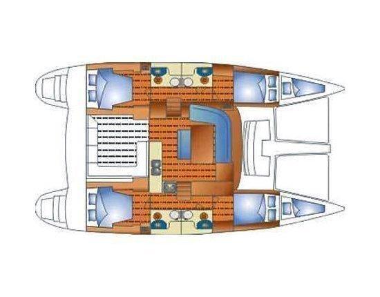 Lagoon 440 (Kit Kat) Plan image - 14