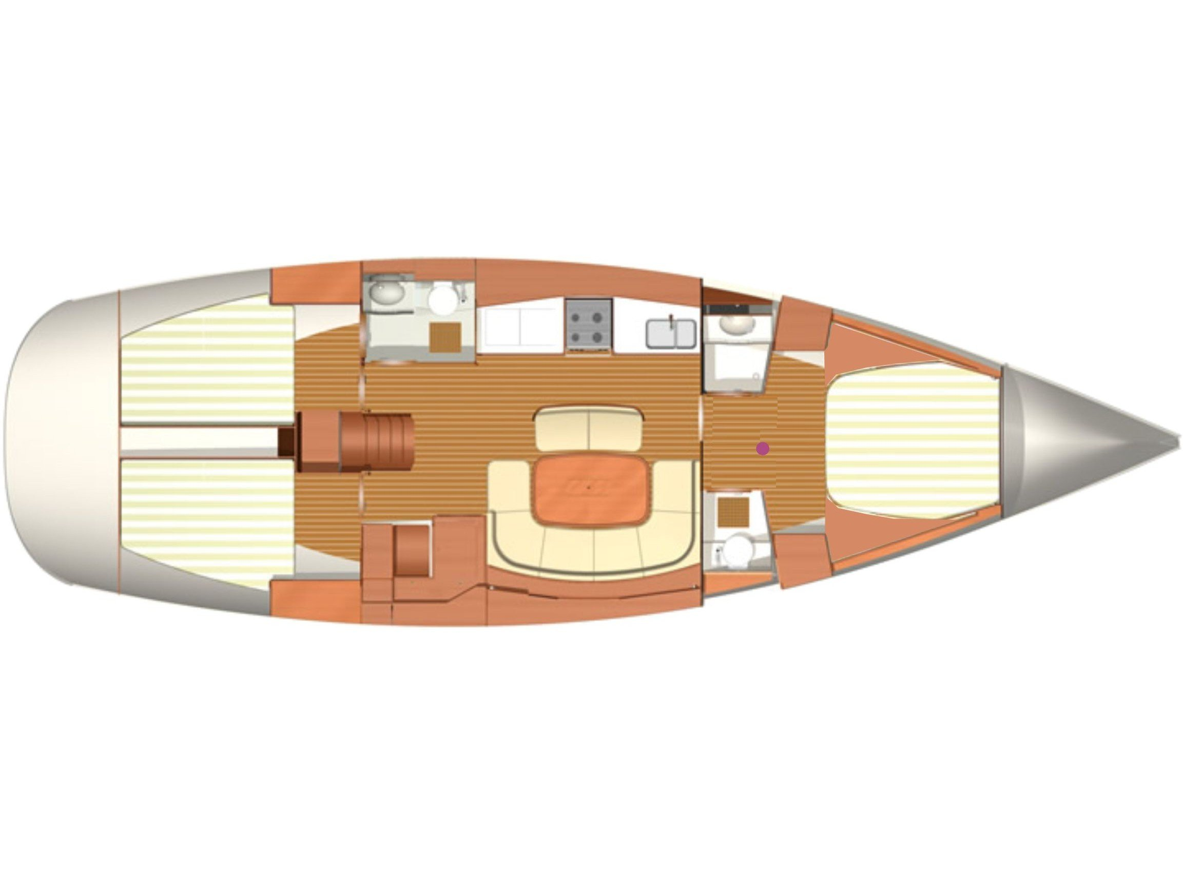 Dufour 455/3cab./RM (Sea Pearl) Plan image - 4