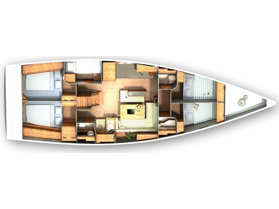 Hanse 505 (Figarola) Plan image - 4