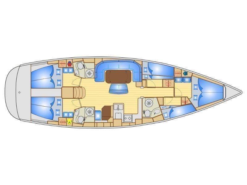 Bavaria 50 Cruiser (Fortunal) Plan image - 24