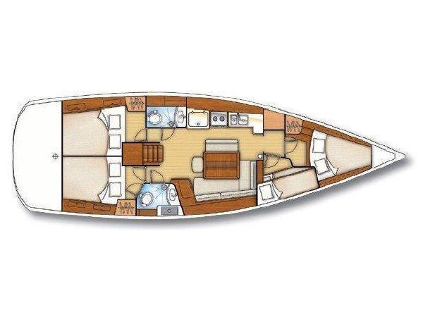 Oceanis 43 (AMADIE) Plan image - 2