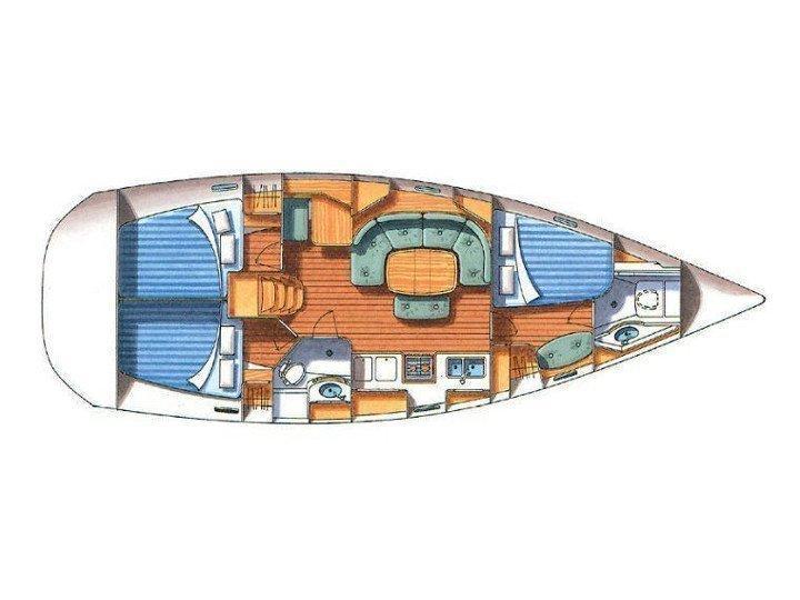 Oceanis 393 C (HAWK) Plan image - 2