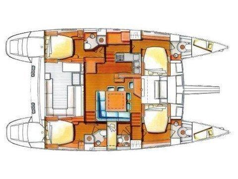 Lagoon 500 (LADY MIA) Plan image - 1