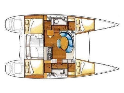 Lagoon 380 S2 Premium (ALLEGRO) Plan image - 1