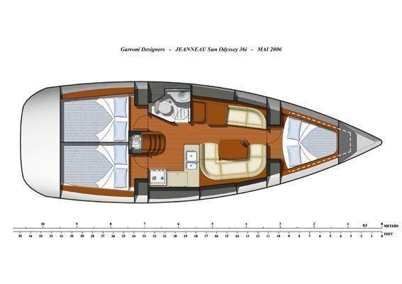 Sun Odyssey 36i (WaterProof) Plan image - 1