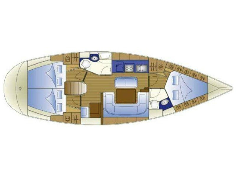Bavaria 40 Cruiser (S/Y Philomila) Plan image - 1