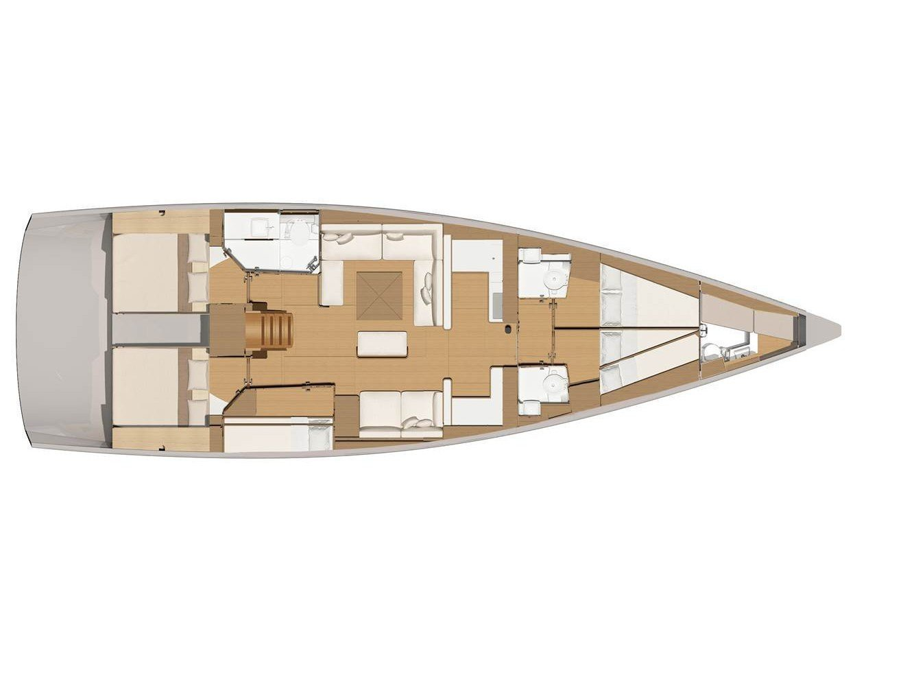 Dufour 56 Exclusive (Ipazia) Plan image - 3
