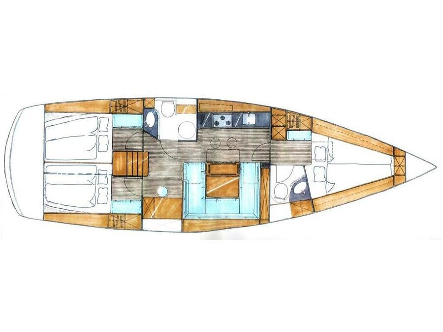 Bavaria 43 Cruiser (B43-10-KM) Plan image - 1
