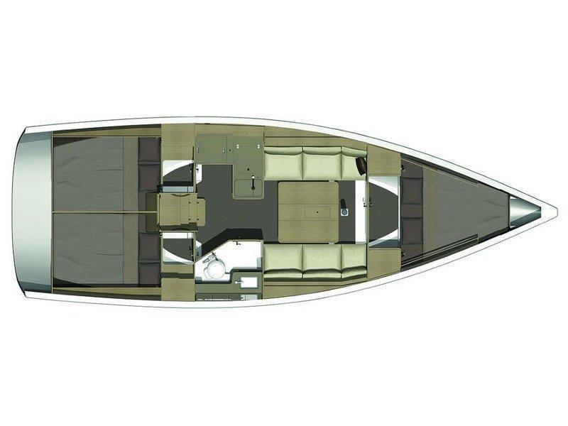 Dufour 350 GL (Pape) Plan image - 3