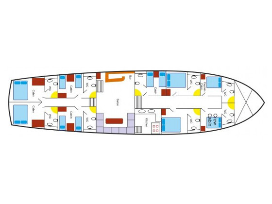 Gulet - Perla del Mar (Perla del Mar) Plan image - 29