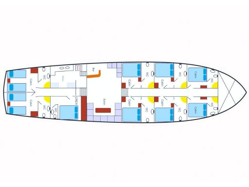 Gulet - Perla del Mar 1 (Perla del Mar 1) Plan image - 56