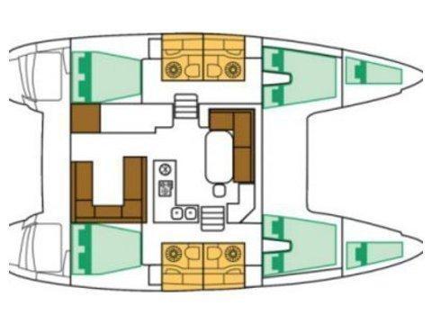 Lagoon 400 S2 (SUNSHINE) Plan image - 15
