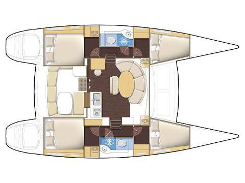 Lagoon 380(10) (GIULIA) Plan image - 2