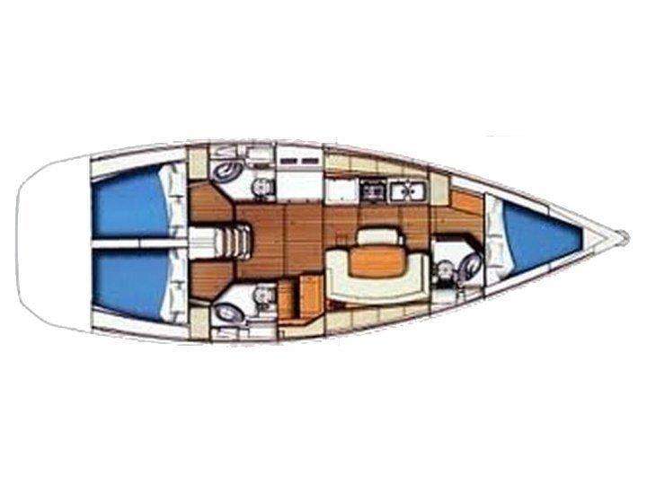 Beneteau Cyclades 43.3 (Elvira) Plan image - 2