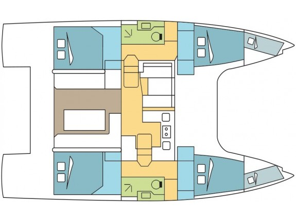 Nautitech 40 (JULIADESE) Plan image - 2