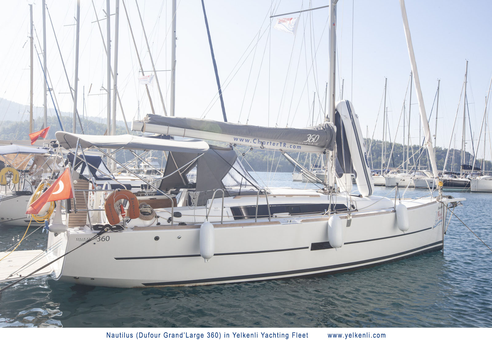 Dufour 360 GL (Nautilus) Starboard Side View - 5